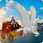 Flying Horse Taxi City Transport: Horse Games 2020 (Mod) 1.9