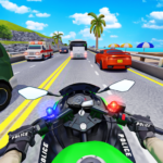 Police Moto Bike Highway Rider Traffic Racing Game (Mod) 47