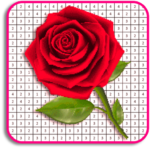 Rose Flowers Coloring Book, Color By Number Pixel (Mod)  6.0