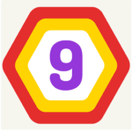 UP 9 – Hexa Puzzle! Merge Numbers to get 9 (Mod)   1.1.3