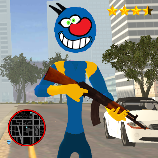 Oggy Stickman Rope Hero : Vice Town (Mod) 1.1