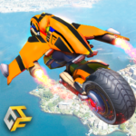 Real Flying Robot Bike : Robot Shooting Games (Mod) 2.3
