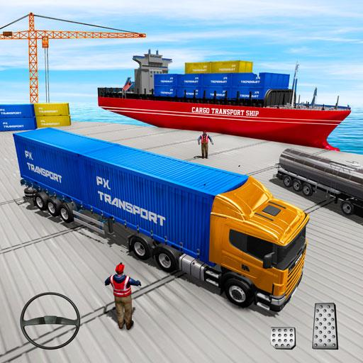 US Truck Cargo Simulator: Transporter Ship Driving (Mod) 2.0