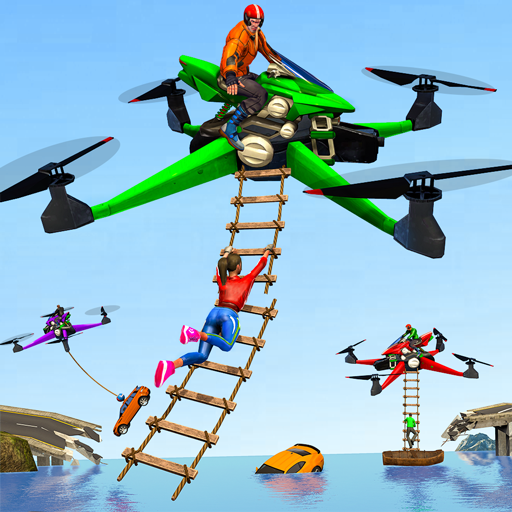 Drone Rescue Simulator: Flying Bike Transport Game (Mod) 1.0.12
