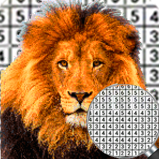 Lion Pixel Art-Animal Coloring By Number (Mod) 7.0