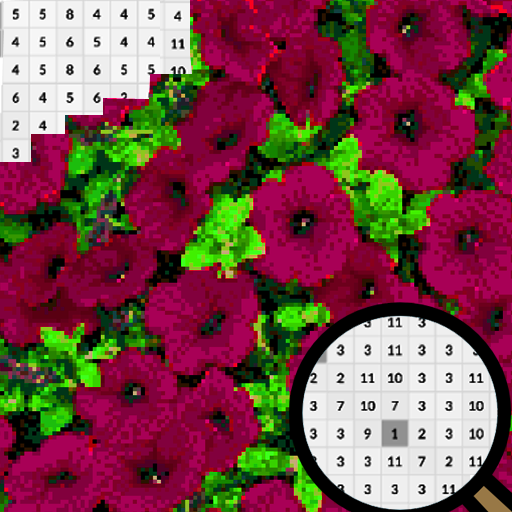 Petunia Flowers Color By Number-Pixel Art 2020 (Mod) 2.0