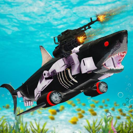 Shark Robot Transformation – Robot Shark Games (Mod) 1.1