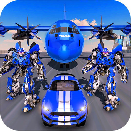 US Police Robot Transform – Police Plane Transport (Mod) 5.0