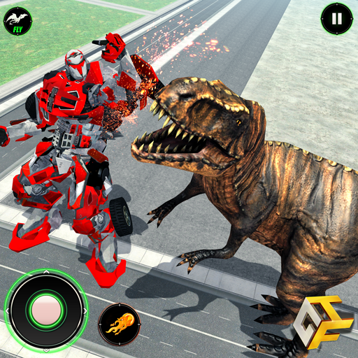 Wild Dinosaur Rampage : Flying Robot Shooting Game (Mod) 2.3