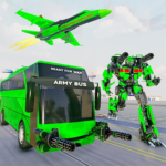 Army Bus Robot Transform Wars – Air jet robot game (Mod) 4.1