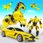 Flying Muscle Car Robot Transform Horse Robot Game (MOD Premium Cracked) 26