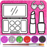 Glitter beauty coloring and drawing (MOD Premium Cracked) 4.7